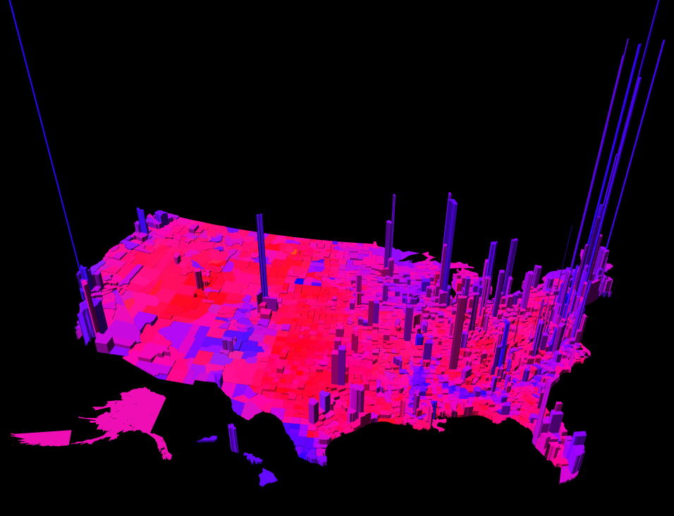 Technology Review Highlights D Purple America Election Map EQN - Us county map 2012 election